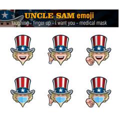 Uncle sam emoji - laughing - index finger up - i vector