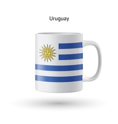 Uruguay flag souvenir mug on white background vector
