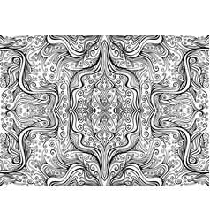 Waves curly decorative abstract psychedelic vector