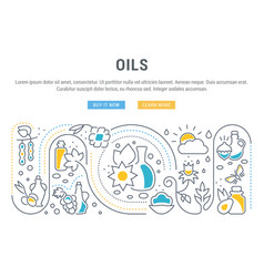 website banner and landing page oils vector image
