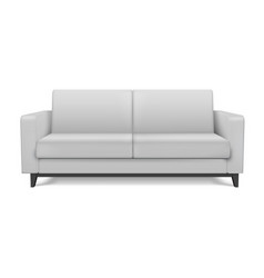 White realistic modern sofa furniture for the vector