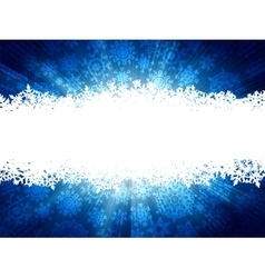 Winter background with snowflakes EPS 8 vector image