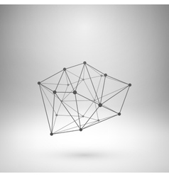 Wireframe mesh polygonal abstract form vector