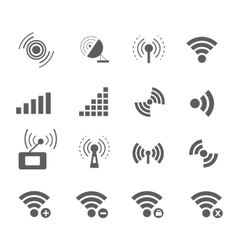 Wireless and wifi icons vector