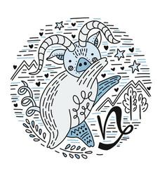 zodiac signes capricorn vector image