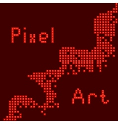 abstract pixel art vector image