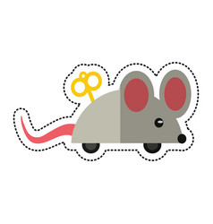 cartoon april fools day mouse surprise vector image vector image