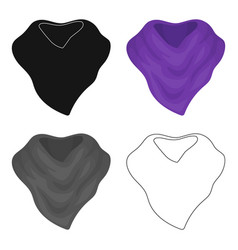 purple arafatka for cowboyscarves and shawls vector image vector image