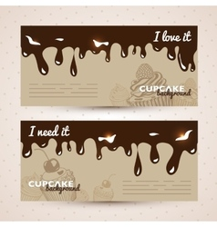 sweet background Hand drawn vector image