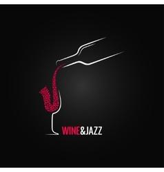 Wine and jazz concept design background vector