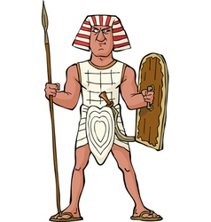 ancient egyptian warrior vector image vector image