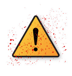 exclamation danger sign vector image