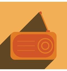Radio flat icon silhouette vector image vector image
