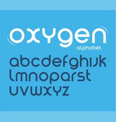 round style minimalistic font alphabet vector image