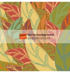 Seamless pattern with colored autumn leaves vector image