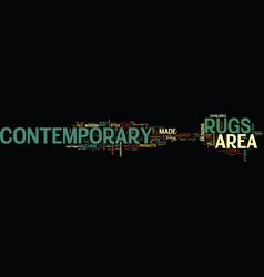 Area rugs contemporary text word cloud concept vector