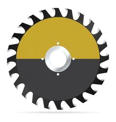 Circular saw blade vector image vector image