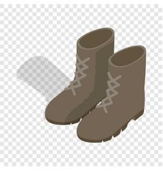 combat military boots isometric icon vector image