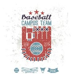 Emblem baseball campus team vector image vector image
