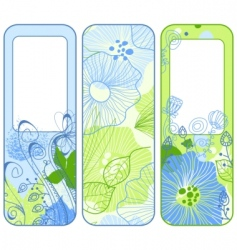 stylish spring banners vector image vector image