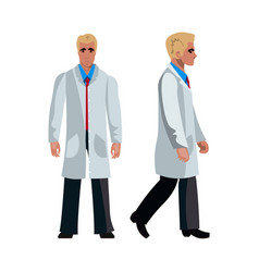 doctor man character flat design vector image vector image