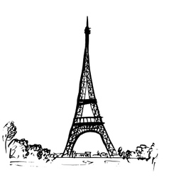 Eiffel tower in Paris France vector image