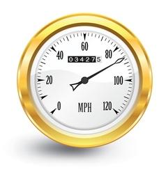 gold speedometer vector image