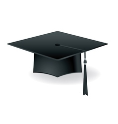 Graduation mortarboard isolated on white vector
