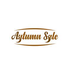 Autumn sale calligraphic text vector