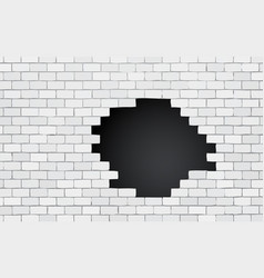 brick wall with black hole vector image