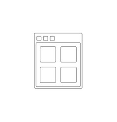 browser flat icon vector image
