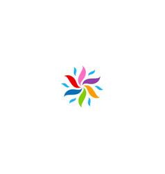 circle colorful circle decorative logo vector image