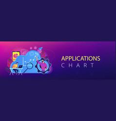 cloud management header banner vector image
