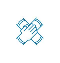 collaborative work linear icon concept vector image