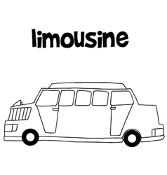 Collection of limousine car hand draw vector