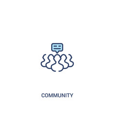 Community concept 2 colored icon simple line vector