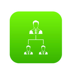 company structure icon digital green vector image