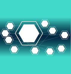connected hexagon shapes technology backgrounds vector image
