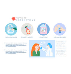 coronavirus covid19-19 prevention poster stop vector image
