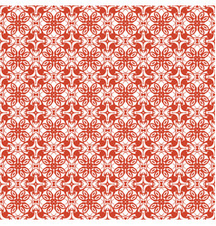 Crimson abstract damask pattern background vector