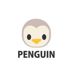 cute penguin cartoon logo icon vector image