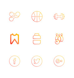 Dumbell basketball facebook twitter google vector