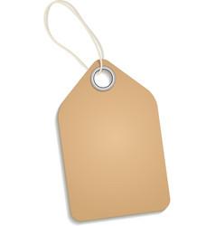 Empty cardboard tag vector