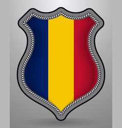 flag of romania badge and icon vector image