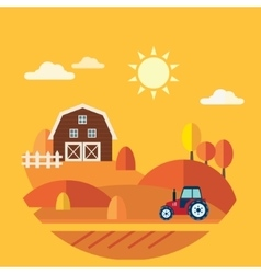 Flat Design Concept of Farm Landscape vector