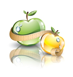 Glossy fresh apples vector image vector image