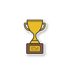 gold cup patch vector image