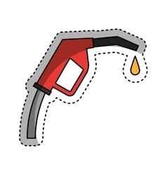Gun fuel service station vector