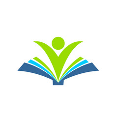 Happy learning book symbol design vector