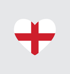 Heart in colors and symbols of the england flag vector